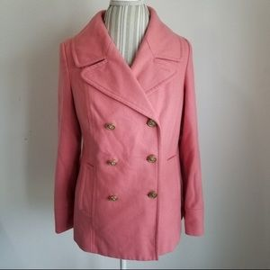 Old Navy Classic Wool Peacoat — Coral